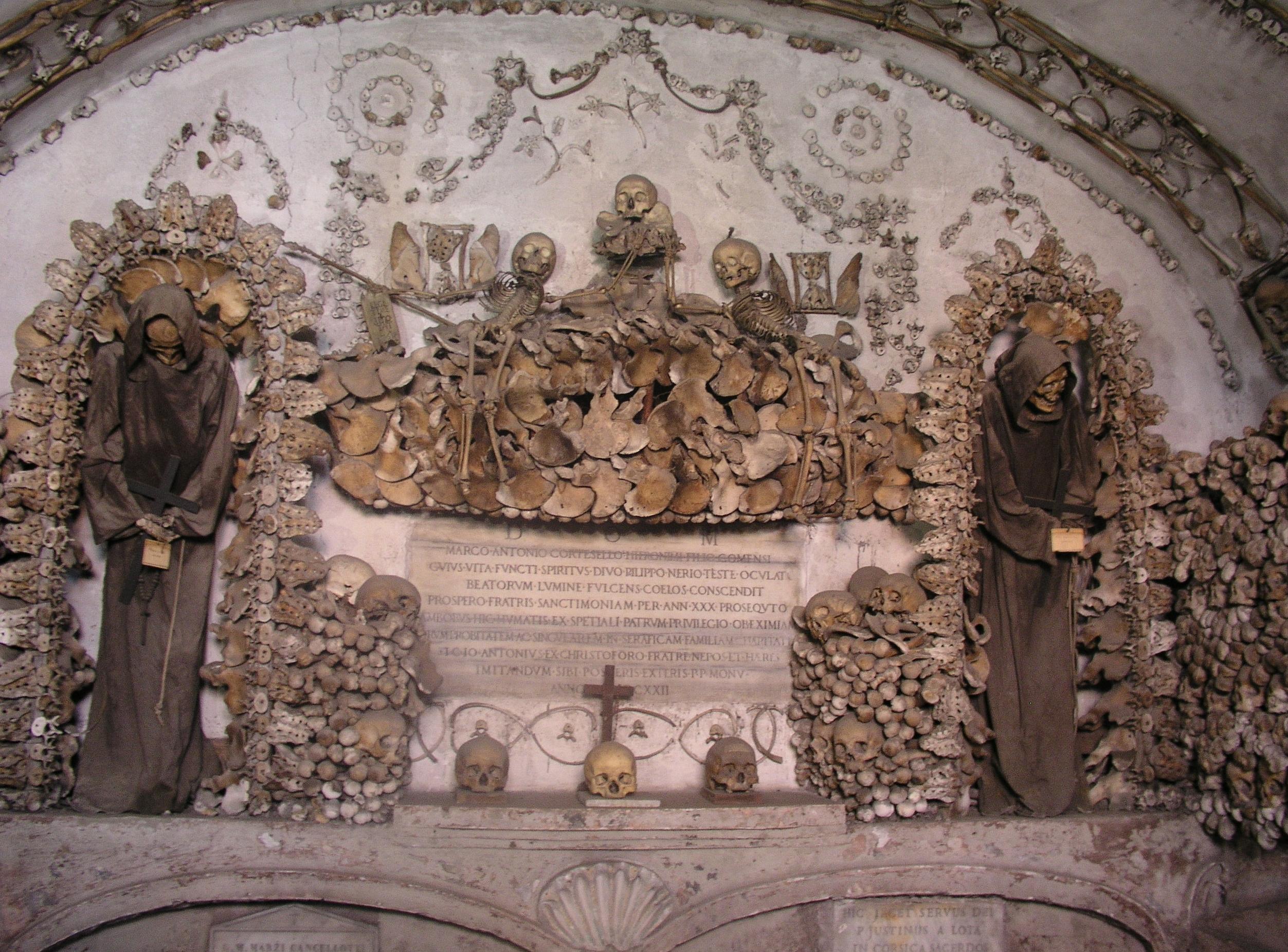 Photo from Santa Maria della Concezione dei Cappuccini, Rome, Italy. Photo taken by Wikipedia user Dnalor_01, Picture from Wikimedia Commons, CC-BY-SA 3.0. Via IllustratedPrayer.com