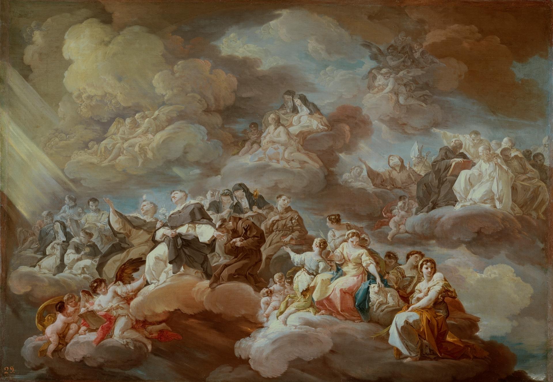 The Paradise, by Corrado Giaquinto, c. 1754-57. Museo del Prado, Madrid, Spain. Via IllustratedPrayer.com