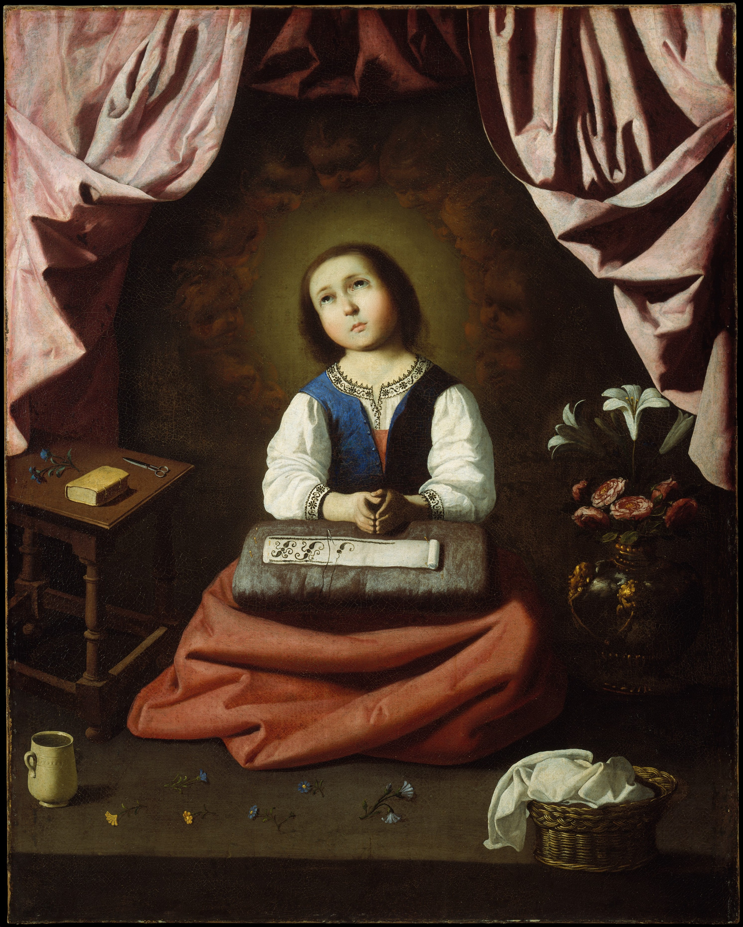 The Young Virgin, by Francisco de Zurbarán, c, 1632-33, The Metropolitan Museum of Art, New York, New York, United States. Via IllustratedPrayer.com