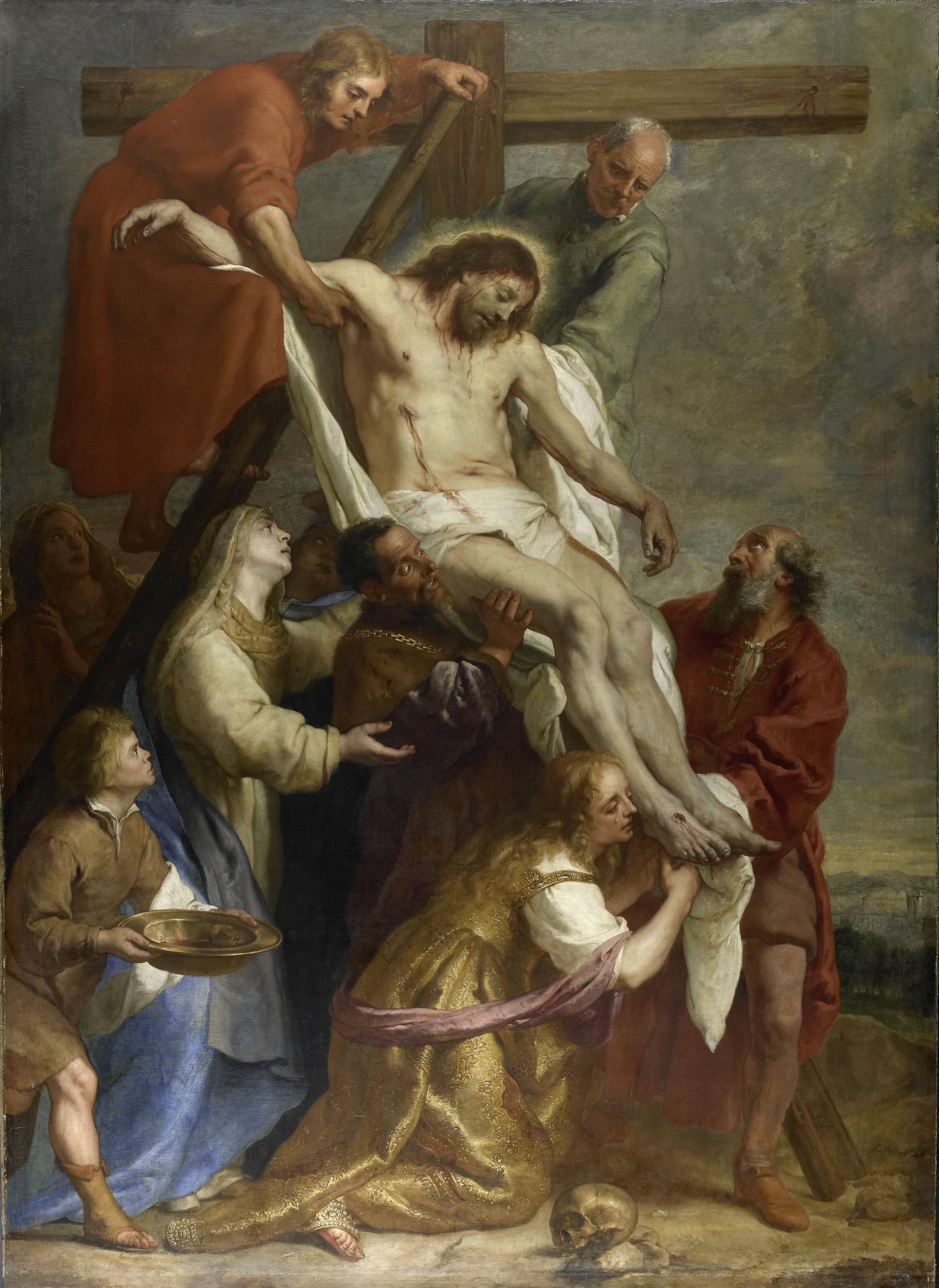 The Descent from the Cross, by Gaspar de Crayer, c. 1630 - 1669. Rijksmuseum, Amsterdam, Netherlands. Via IllustratedPrayer.com
