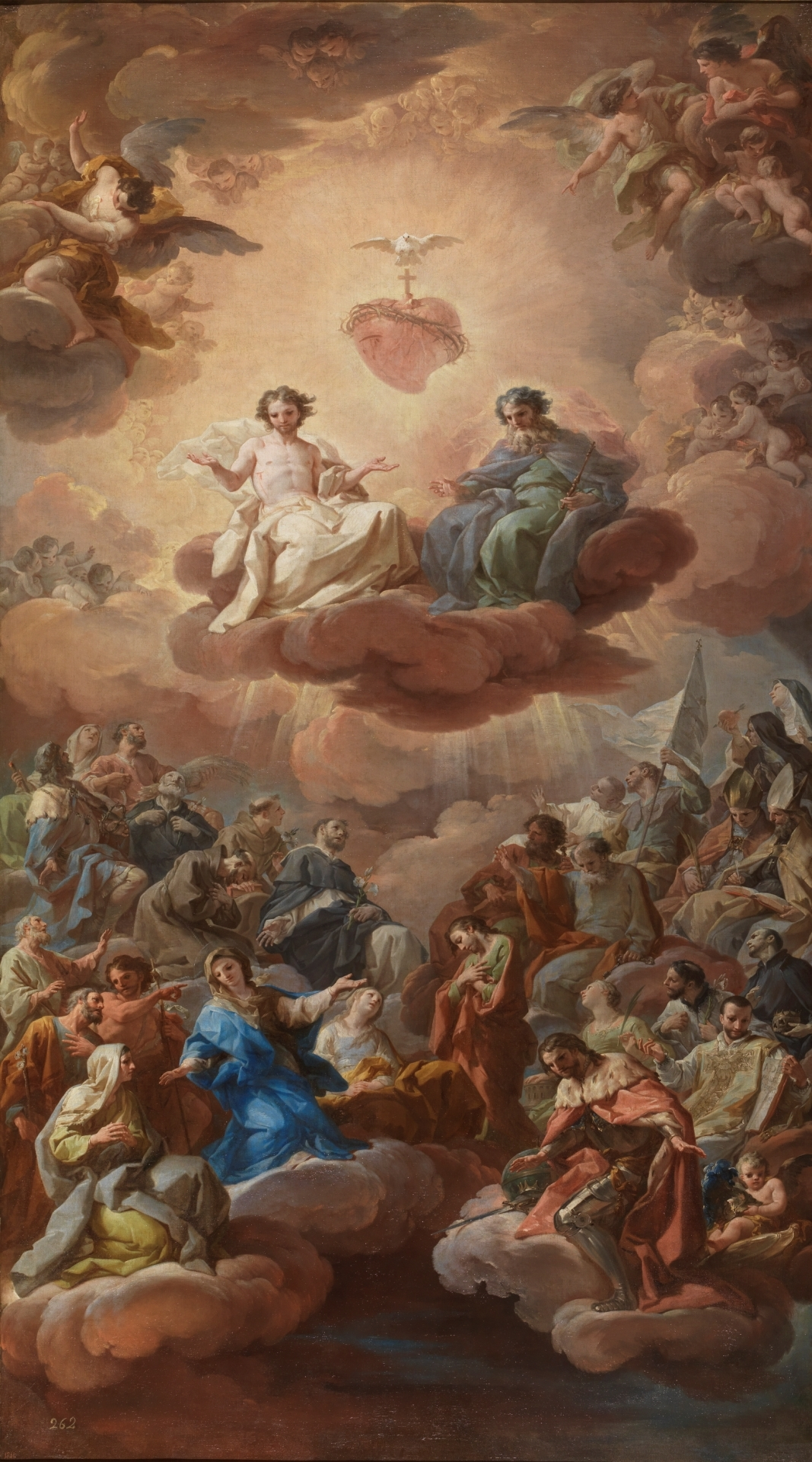 The Holy Trinity, by Corrado Giaquinto, c. 1754. Museo del Prado, Madrid, Spain. Via IllustratedPrayer.com