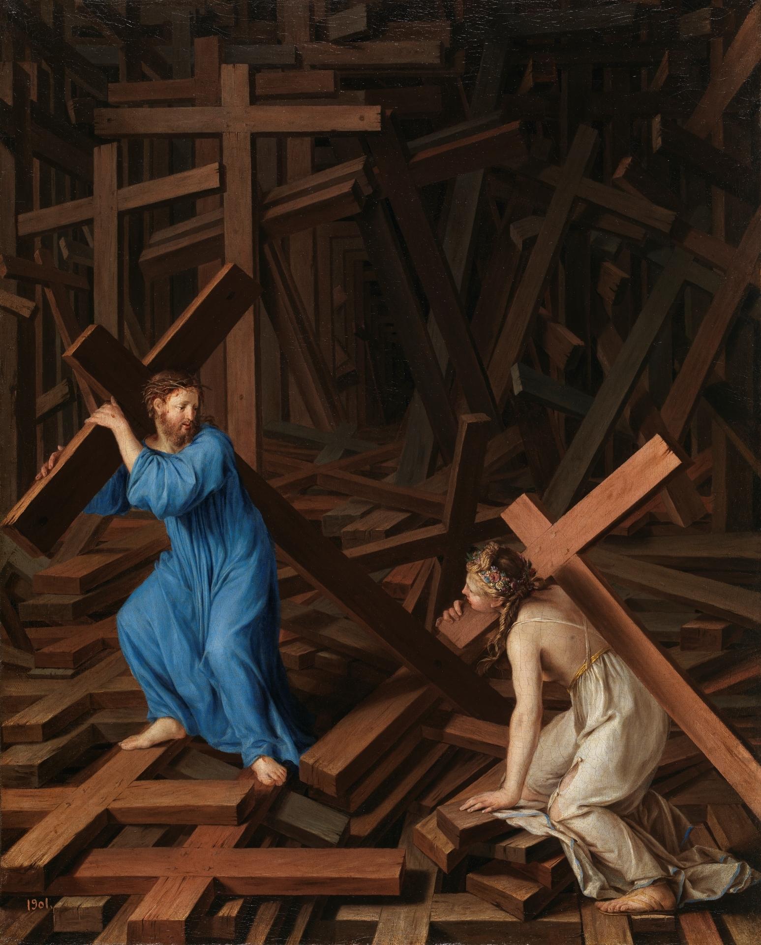 The Christian Soul accepts the Cross, c. 1630. Museo del Prado, Madrid, Spain. Via IllustratedPrayer.com