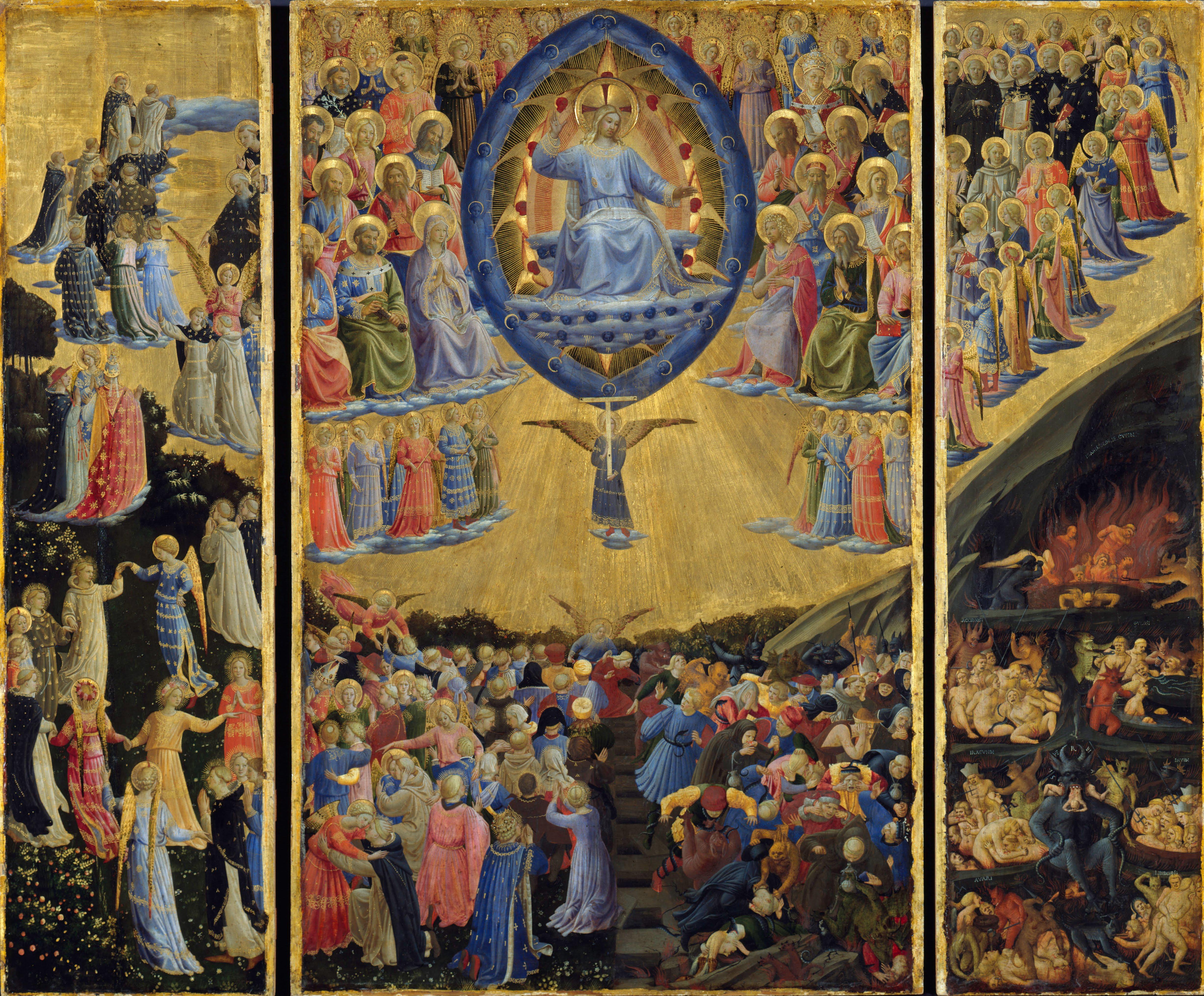The Last Judgment, by Fra Angelico, c. 1450. Gemäldegalerie, Berlin, Germany. Via IllustratedPrayer.com