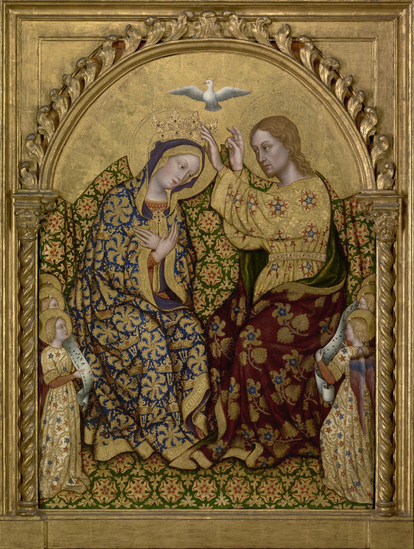 Coronation of the Virgin, by Gentile da Fabriano, c. 1420. J. Paul Getty Museum, Los Angeles, California, United States. Via IllustratedPrayer.com