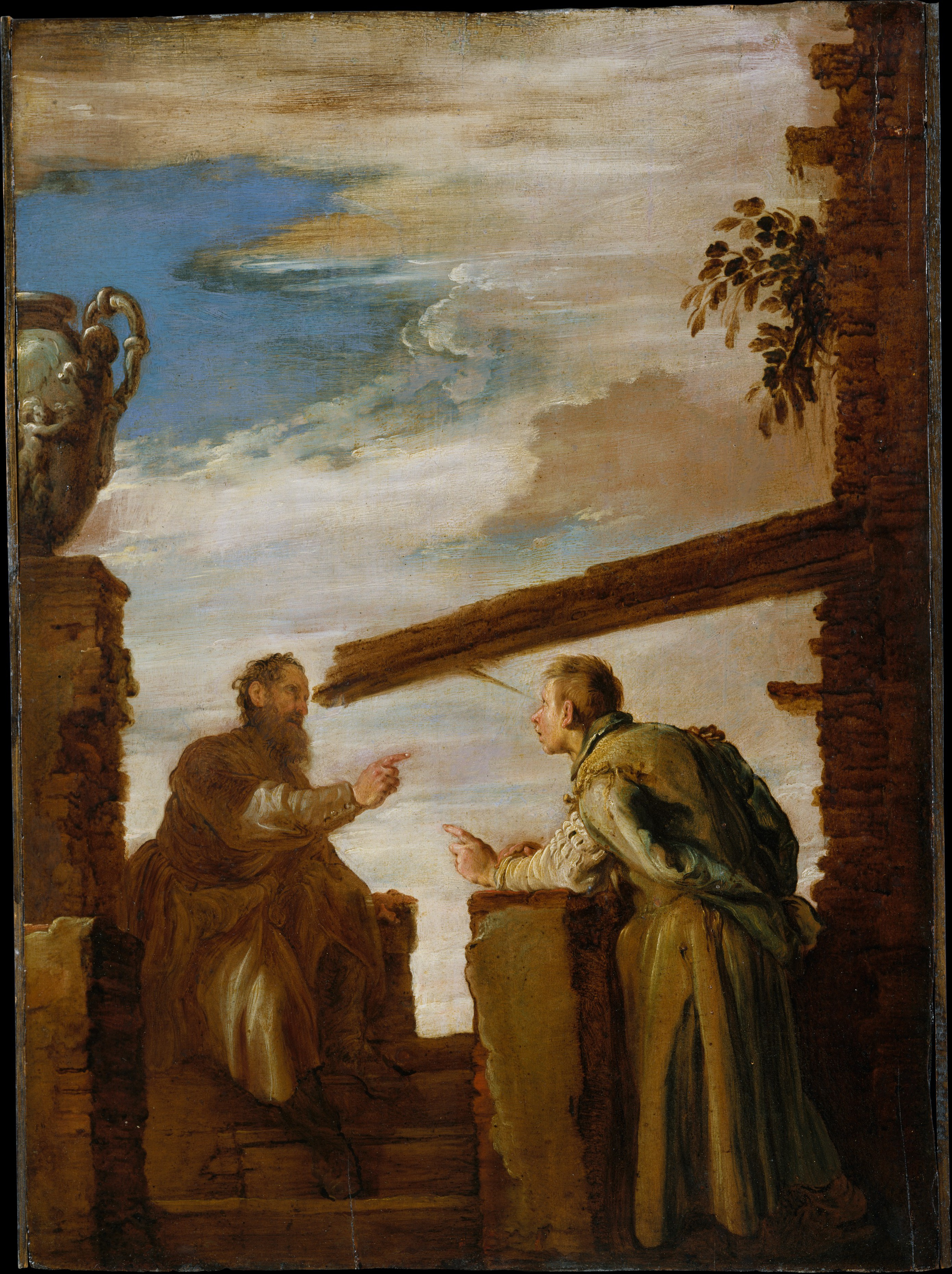 The Parable of the Mote and the Beam, by Domenico Fetti, c. 1619. Metropolitan Museum of Art, New York New York, United States. Via IllustratedPrayer.com